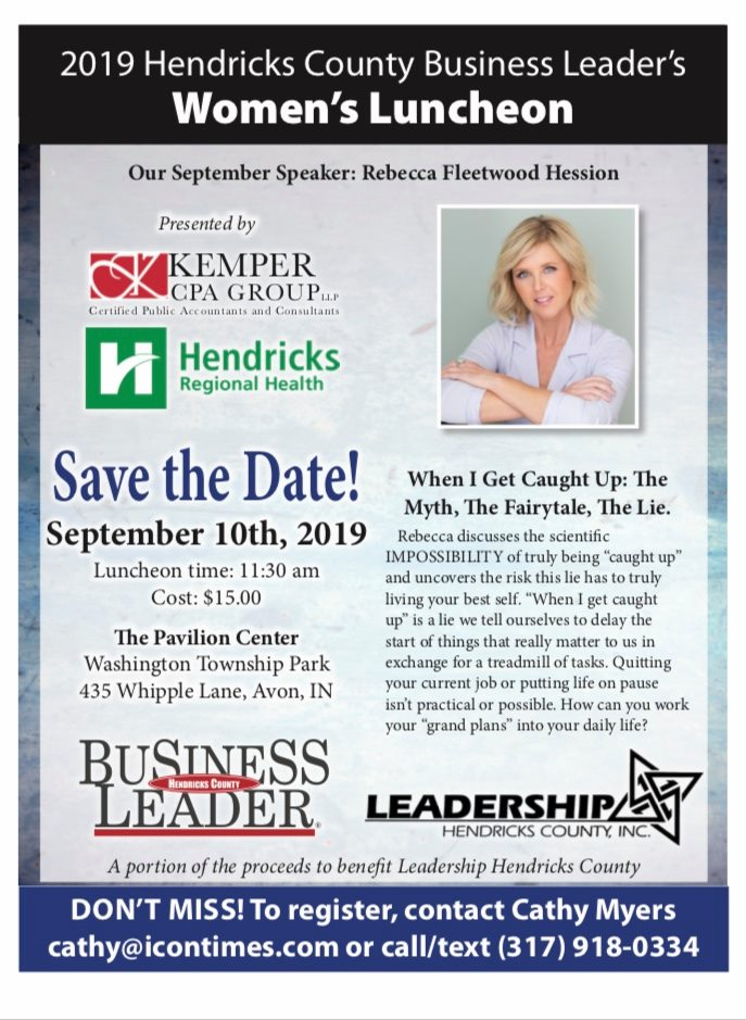 Hendricks County Business Leader's Women's Luncheon @ The Pavilion at Washington Township Park