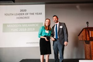 Youth Leader of the Year honoree Madelyn Milharcic with Chad Ferman. Photos by Hendricks Regional Health